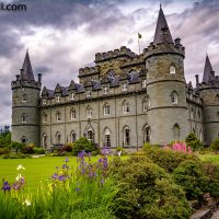 Inveraray Castle with White Bench (SCO)