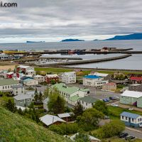 Blick auf #Sauðárkrókur und #Drangey Insel